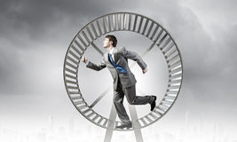 Running in circles Stock Images