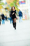 Running through the city Royalty Free Stock Photography