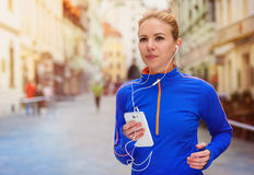Running in the city Royalty Free Stock Images