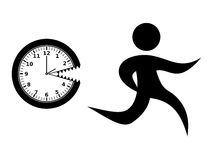 Running from the Clock Stock Image