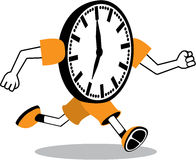 Running Clock Royalty Free Stock Photography