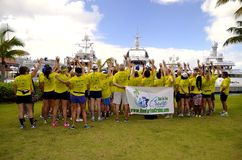 Running Club on Cruise Royalty Free Stock Image