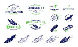Running Club Labels, Icons and Design Elements Royalty Free Stock Photo