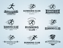Running Club Logo, Icons and Design Elements Royalty Free Stock Image