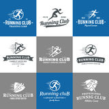 Running Club Logo, Icons and Design Elements Stock Images