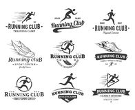 Running Club Logo, Icons and Design Elements Royalty Free Stock Photo