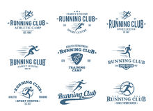 Running Club Logo, Icons and Design Elements Stock Photos