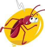 Running Cockroach Insect Vector Cartoon Royalty Free Stock Photo