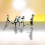 Running competition Royalty Free Stock Photos