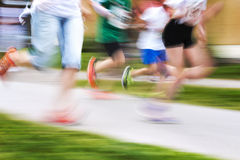 Running competition Royalty Free Stock Photo