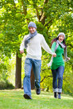 Running Couple Stock Images