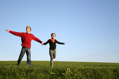 Running couple Stock Image
