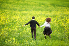 Running couple Royalty Free Stock Photos