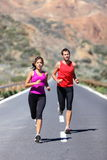 Running Couple Royalty Free Stock Photo