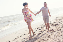 Running couple Royalty Free Stock Image