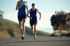 Running couple fitness Royalty Free Stock Photo