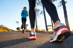 Running couple fitness Stock Image