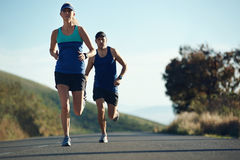 Running couple fitness Royalty Free Stock Photography