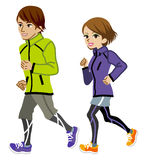 Running couple Isolated. Vector illustration of Running couple Isolated Royalty Free Stock Photography