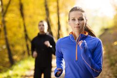 Running couple Stock Image