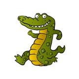 Running crocodile Cartoon. Royalty Free Stock Image