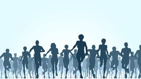 Running crowd Royalty Free Stock Photo