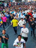 Running crowd of people Stock Images