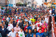 Running crowd of people Royalty Free Stock Photo