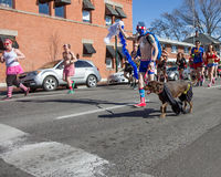 Running at the cupids undie run Stock Photo