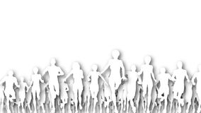 Running cutouts Stock Images