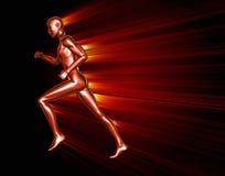 Running 3D man Stock Photography