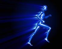 Running 3D man Stock Images