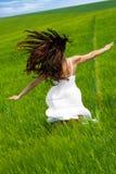 Running and dancing Stock Photo