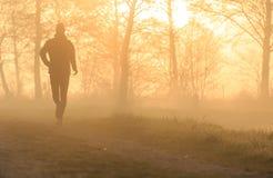 Running at dawn Royalty Free Stock Photography