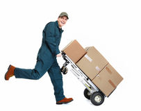 Running Delivery postman. Stock Image