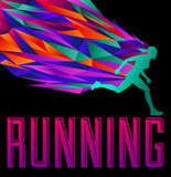 Running Design - Female silhouette runninG Royalty Free Stock Photography