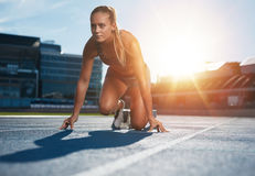 Running with determination Stock Photography