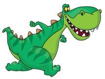 Running dinosaur vector illustration
