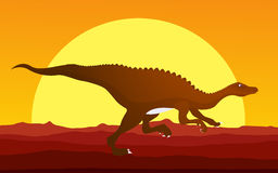 Running dinosaur Royalty Free Stock Photography