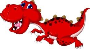 Running dinosaur cartoon isolated Stock Image