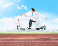 Running doctors Royalty Free Stock Image