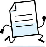 Running Document Royalty Free Stock Photos