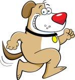 Running Dog. Cartoon illustration of a dog running Stock Photo
