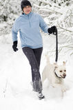 Running with dog Royalty Free Stock Images
