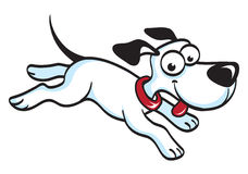 Running Dog Cartoon. Cartoon of a happy running dog with its tongue out