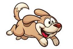 Running Dog Cartoon Stock Images