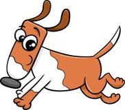 Running dog or puppy cartoon Royalty Free Stock Image