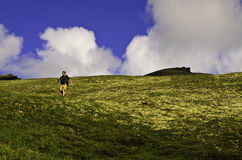 Running down hill Stock Images