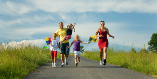 Free Running Down That Hill Stock Image - 5677591