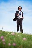 running dräkt för affärsmanäng royaltyfri bild